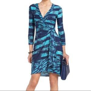 BCBGMaxAzria blue wrap dress